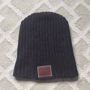 Love Your Melon beanie in charcoal